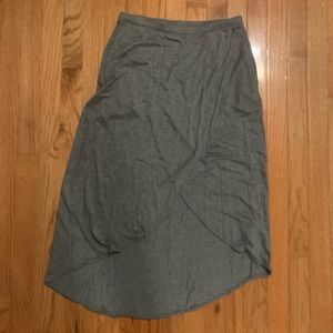 Gap gray maxi skirt - size XS